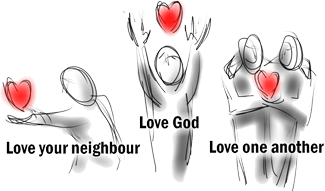 Ministry Streams - Love God, Love your neighbour, Love one another.
